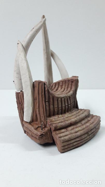 Figuras de Goma y PVC: TRONO AFRICANO . REALIZADO POR ARCLA . ORIGINAL AÑOS 50 EN GOMA - Foto 6 - 247755790