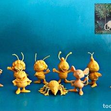 Figuras de Goma y PVC: FIGURAS DUNKIN PHOSKITOS PANRICO LA ABEJA MAYA. COLECCIÓN VINTAGE. Lote 247951780