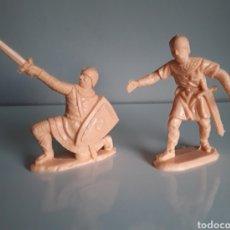 Figuras de Goma y PVC: GUERREROS MEDIEVALES DE REAMSA, SERVIDOR CATAPULTA TORRE DE ASALTO Y FIGURA 187 DE CATÁLOGO.. Lote 248284290