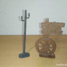 Figuras de Goma y PVC: ANTIGUO CARTEL Y POSTE COMANSI DODGE CITY. Lote 248726330