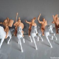 Figuras de Goma y PVC: BEN-HUR. LEGIONES ROMANAS DE REAMSA, SERIE COMPLETA 5 LEGIONARIOS A CABALLO, REEDICIÓN MONOCOLOR.. Lote 249069980