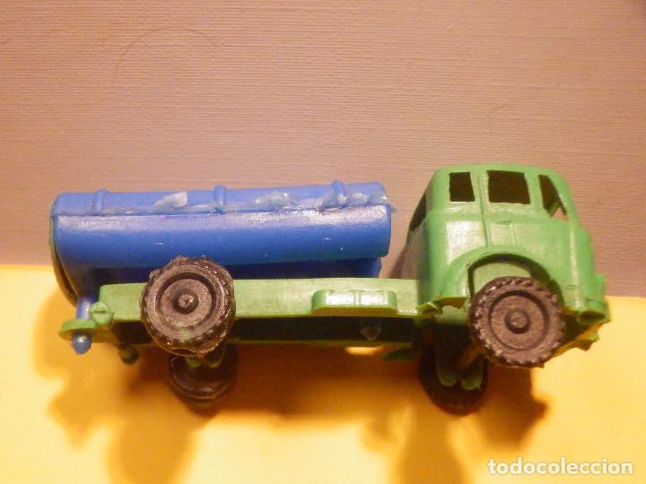 Figuras de Goma y PVC: Camión Plástico - Cabeza Tractora Bedford con Cuba Cisterna Campsa - Kiosko 60´s 70´s - Foto 7 - 249263545