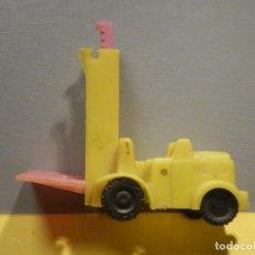Figuras de Goma y PVC: MÁQUINA PLÁSTICO - CARRETILLA FENWICK - TRANSPALET - KIOSKO 60´S 70´S. Lote 249274700