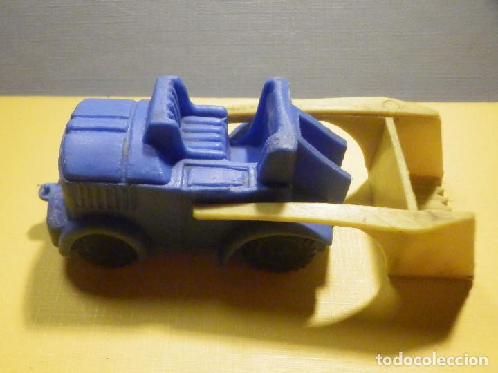 Figuras de Goma y PVC: Máquina Plástico - Pala Retro Retroescavadora - Kiosko 60´s 70´s - Foto 2 - 249275135