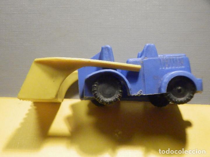 Figuras de Goma y PVC: Máquina Plástico - Pala Retro Retroescavadora - Kiosko 60´s 70´s - Foto 3 - 249275135