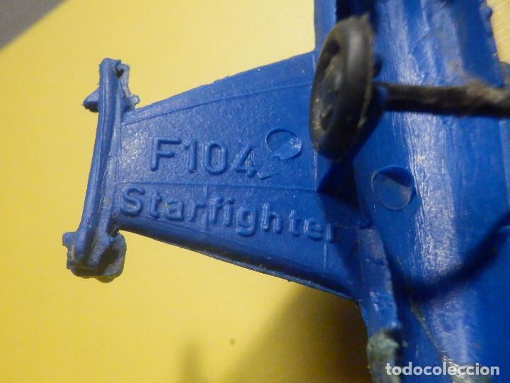 Figuras de Goma y PVC: Avión de plástico - F 104 - StarFighter - Con ruedas - Kiosco - 60´s 70´s - Foto 4 - 249301365