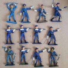 Figuras de Goma y PVC: LOTE 12 SOLDADOS UNIÓN , YANQUIS. COMANSI, 7 CMS. Lote 249324645