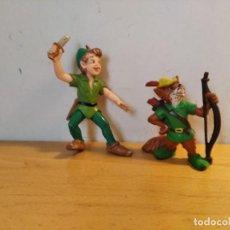 Figuras de Goma y PVC: LOTE FIGURAS BULLYLAND PETER PAN Y ROBIN HOOD. Lote 249357905