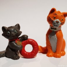 Figuras de Goma y PVC: LOS ARISTOGATOS - THOMAS O'MALLEY Y BERLIOZ - LOTE 2 FIGUAS PVC BULLYLAND - DISNEY. Lote 249489280