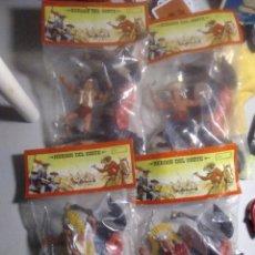 Figuras de Goma y PVC: EXTRAORDINARIO LOTE 4 BOLSAS REIGON : ÍNDIOS CON CABALLO HÉROES DEL OESTE. Lote 250272935