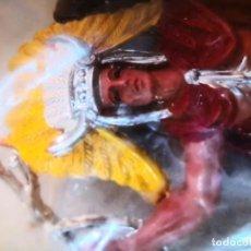 Figuras de Goma y PVC: BOLSA INDIO Y CABALLO HEROES DEL OESTE REIGON FIGURAS DE GRAN TAMAÑO PINTADAS A MANO AÑOS 80. Lote 251353535