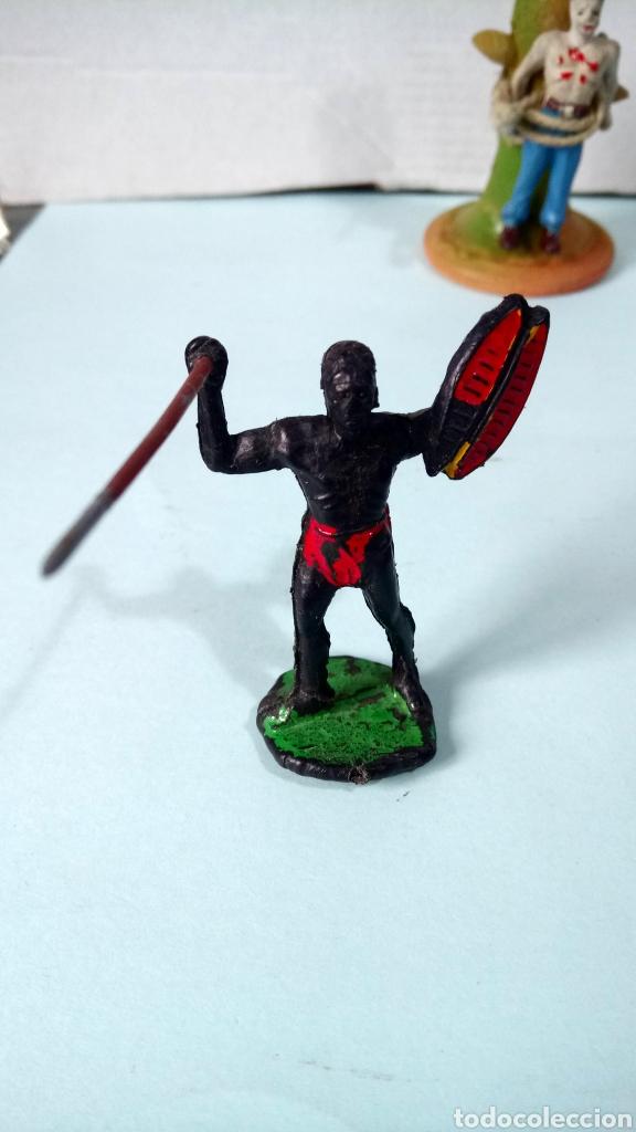 Figuras de Goma y PVC: ÁFRICA SALVAJE. POSTE DE TORTURA. - Foto 2 - 251452885