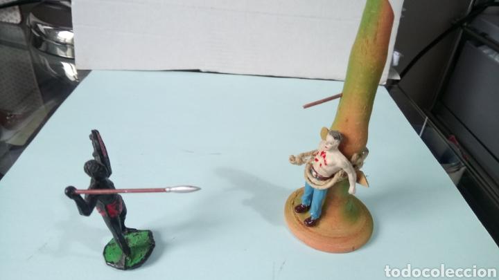 Figuras de Goma y PVC: ÁFRICA SALVAJE. POSTE DE TORTURA. - Foto 5 - 251452885
