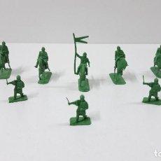 Figuras de Goma y PVC: LOTE DE SOLDADITOS MONTAPLEX - MEDIEVALES . ORIGINAL AÑOS 70 / 80. Lote 251884270