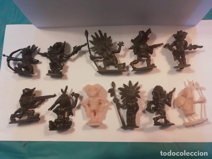 JECSAN 10 FIGURAS BOYBIS COWBOYS Y PIEL ROJITAS AÑOS 60 ORIGINALES MOLDE (Juguetes - Figuras de Goma y Pvc - Jecsan)