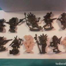 Figuras de Goma y PVC: JECSAN 10 FIGURAS BOYBIS COWBOYS Y PIEL ROJITAS AÑOS 60 ORIGINALES MOLDE. Lote 252044345