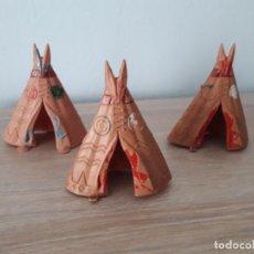 Figuras de Goma y PVC: LOTE TRES TIENDAS INDIAS- TEEPEE. JECSAN. Lote 252158915
