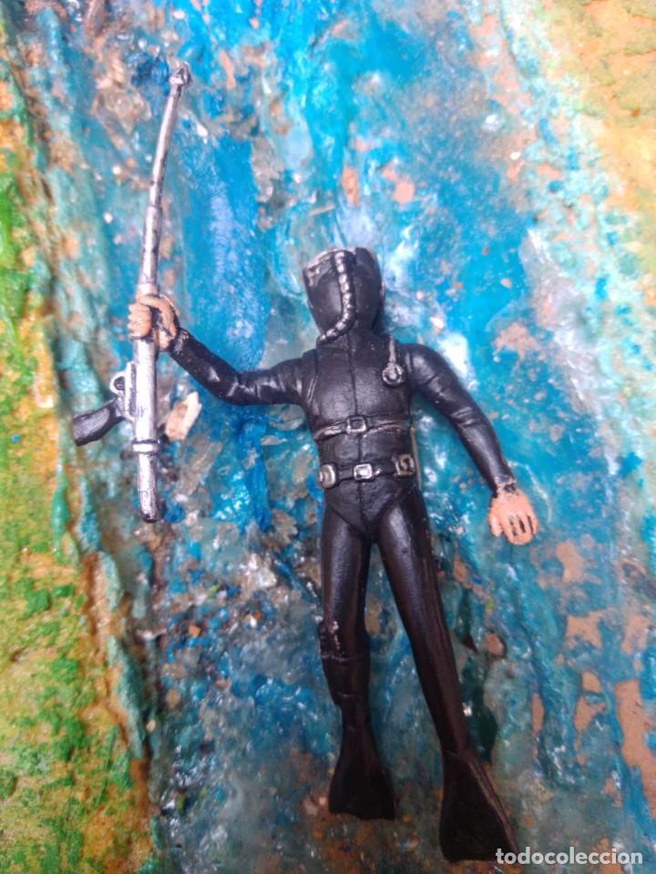 Figuras de Goma y PVC: Submarinista - Foto 2 - 252351415