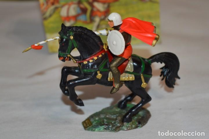 Figuras de Goma y PVC: CHEVAL NOIR - STARLUX ANCIEN - Ref 6101 Lance et cape sur cheval cabré / Buen estado ¡Difícil, mira! - Foto 4 - 252463155