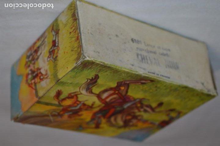 Figuras de Goma y PVC: CHEVAL NOIR - STARLUX ANCIEN - Ref 6101 Lance et cape sur cheval cabré / Buen estado ¡Difícil, mira! - Foto 16 - 252463155