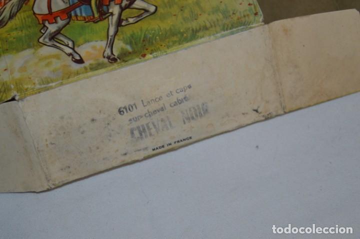 Figuras de Goma y PVC: CHEVAL NOIR - STARLUX ANCIEN - Ref 6101 Lance et cape sur cheval cabré / Buen estado ¡Difícil, mira! - Foto 25 - 252463155