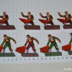 Figuras de Goma y PVC: STARLUX ANTIGUO - LOTE DE 8 TOREROS - AÑOS 60 / MUY BUEN ESTADO ¡MIRA FOTOS Y DETALLES!. Lote 252467965