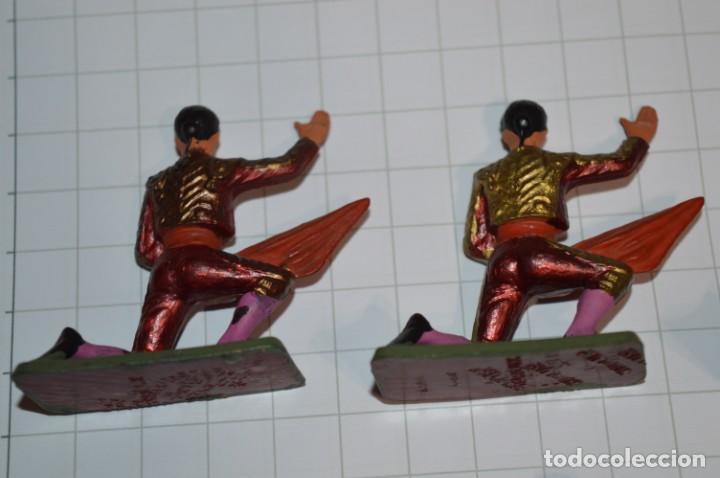 Figuras de Goma y PVC: STARLUX Antiguo - Lote de 8 toreros - Años 60 / Muy buen estado ¡Mira fotos y detalles! - Foto 6 - 252467965
