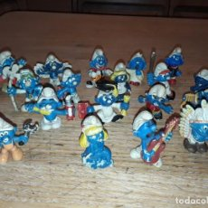 Figuras de Goma y PVC: PITUFOS ANTIGUOS, USADOS, SIN MARCA.. Lote 252486705