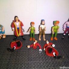 Figuras de Goma y PVC: FIGURAS PETER PAN CAPITAN GARFIO DISNEY HEROES DE FAMOSA. Lote 252552560