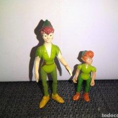 Figuras de Goma y PVC: FIGURAS PETER PAN ARTICULADAS DISNEY. Lote 252587470