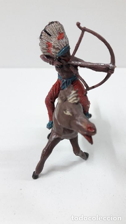 Figuras de Goma y PVC: GUERRERO INDIO PARA CABALLO . REALIZADO POR TEIXIDO . ORIGINAL AÑOS 60 . CABALLO NO INCLUIDO - Foto 5 - 252621360
