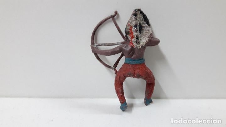 Figuras de Goma y PVC: GUERRERO INDIO PARA CABALLO . REALIZADO POR TEIXIDO . ORIGINAL AÑOS 60 . CABALLO NO INCLUIDO - Foto 6 - 252621360