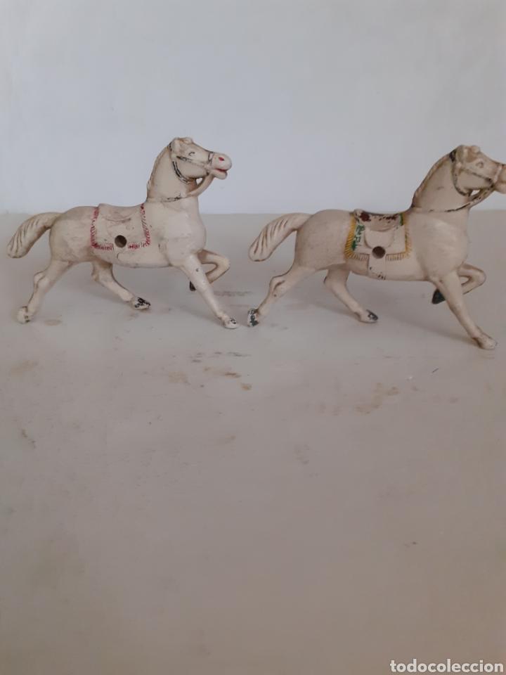Figuras de Goma y PVC: REAMSA CABALLOS GOMA CARRETA CARAVANA - Foto 2 - 252640325