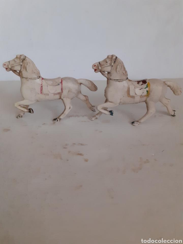 REAMSA CABALLOS GOMA CARRETA CARAVANA (Juguetes - Figuras de Goma y Pvc - Reamsa y Gomarsa)