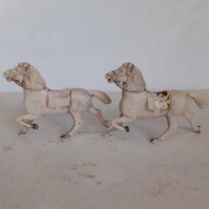 Figuras de Goma y PVC: REAMSA CABALLOS GOMA CARRETA CARAVANA. Lote 252640325