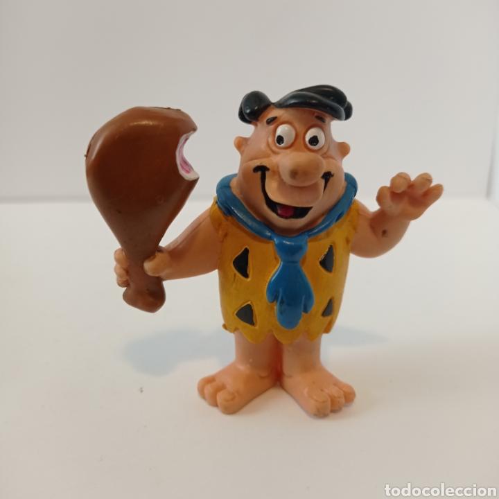 PEDRO PICAPIEDRA CON JAMÓN - COMICS SPAIN PVC - AÑOS 80 (Juguetes - Figuras de Goma y Pvc - Comics Spain)