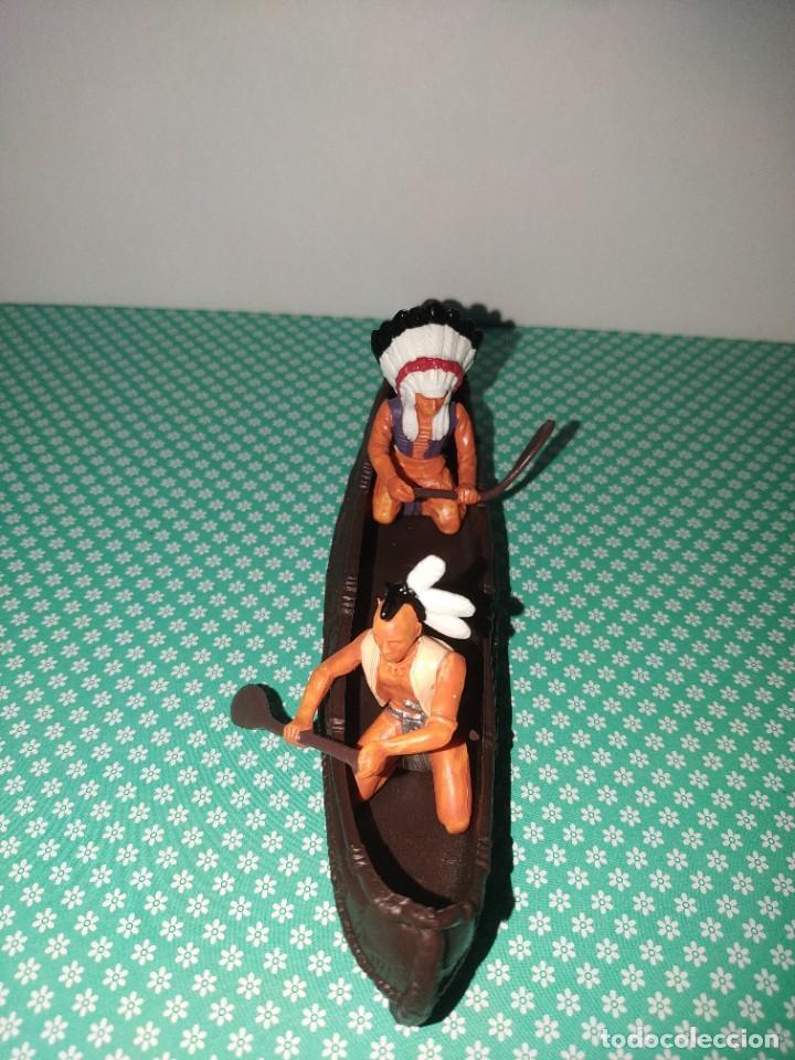 Figuras de Goma y PVC: Canoa indios britains - Foto 2 - 253172025