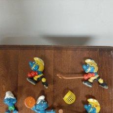 Figuras de Goma y PVC: LOTE DE 8 PITUFOS ANTIGUOS MARCA SCHLEICH. Lote 253211530