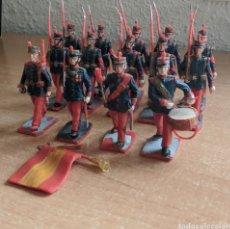 Figuras de Goma y PVC: REAMSA GUARDIA REAL 14 FIGURAS SOLDADOS. Lote 253320255