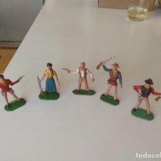 Figuras de Goma y PVC: REAMSA JECSAN BRUBER LAFREDO FIGURAS CHAPARRAL DE COMANSI AÑOS 60 - 70 SERIE COMPLETA. Lote 253332730