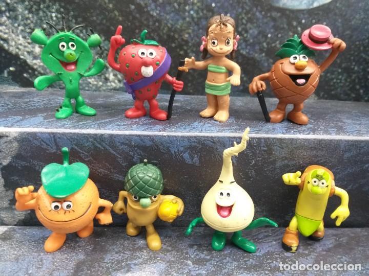 LOTE 8 FIGURAS PVC LOS FRUITIS COMICS SPAIN COLECCION COMPLETA VINTAGE AÑOS 80 (Juguetes - Figuras de Goma y Pvc - Comics Spain)