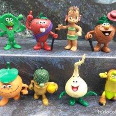 Figuras de Borracha e PVC: LOTE 8 FIGURAS PVC LOS FRUITIS COMICS SPAIN COLECCION COMPLETA VINTAGE AÑOS 80. Lote 253429505
