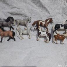 Figuras de Goma y PVC: LOTE DE 8 CABALLOS SCHLEICH. Lote 253557765