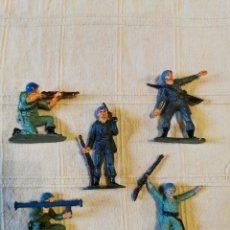 Figuras de Goma y PVC: LOTE SOLDADOS JECSAN CASCOS AZULES PINTADOS. Lote 253705950