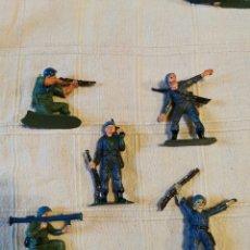 Figuras de Goma y PVC: LOTE SOLDADOS JECSAN CASCOS AZULES PINTADOS. Lote 253708480