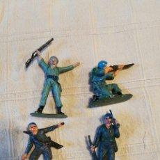 Figuras de Goma y PVC: LOTE SOLDADOS JECSAN CASCOS AZULES PINTADOS. Lote 253709050