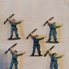 Figuras de Goma y PVC: LOTE SOLDADOS JECSAN CASCOS AZULES. Lote 253711170