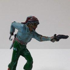 Figuras de Goma y PVC: PIRATA . REALIZADO POR PECH . SERIE PIRATAS . ORIGINAL AÑOS 50 EN GOMA. Lote 253715245