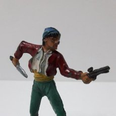 Figuras de Goma y PVC: PIRATA . REALIZADO POR PECH . SERIE PIRATAS . ORIGINAL AÑOS 50 EN GOMA. Lote 253715515