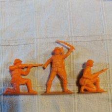 Figuras de Goma y PVC: LOTE SOLDADOS JECSAN NARANJAS. Lote 253719115